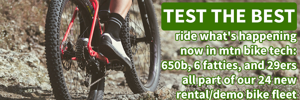 We have a great selection of bicycles to demo!