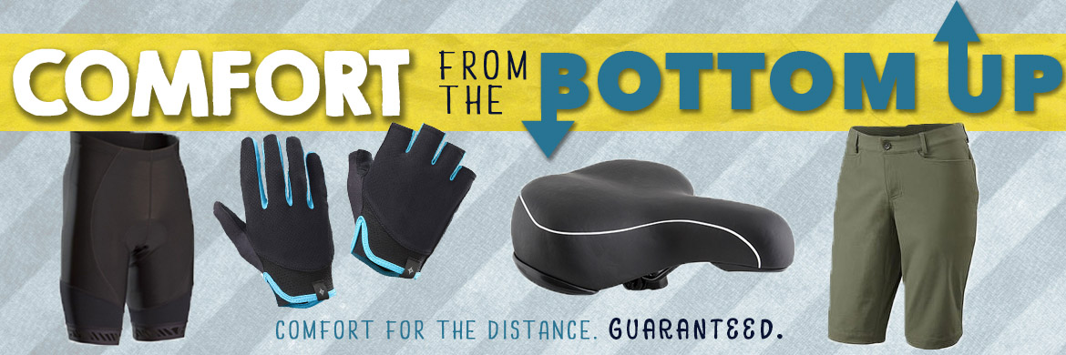 Cycling comfort guaranteed from the bottom up