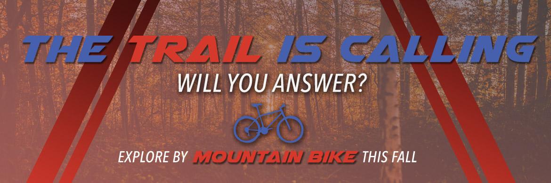 Explore fall by mountain bike