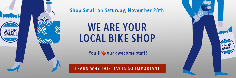 Shop Small at Arrow Bicycle on November 30th