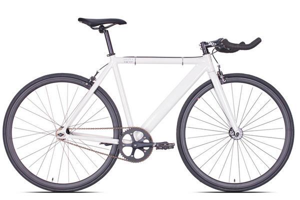 6KU Bikes Pearl White Track