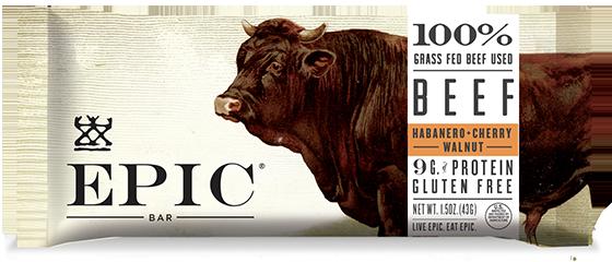 EPIC Bar Beef Habanero Cherry