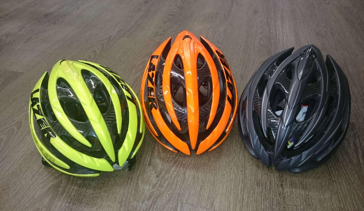 Lazer helmets at Norco John Henry