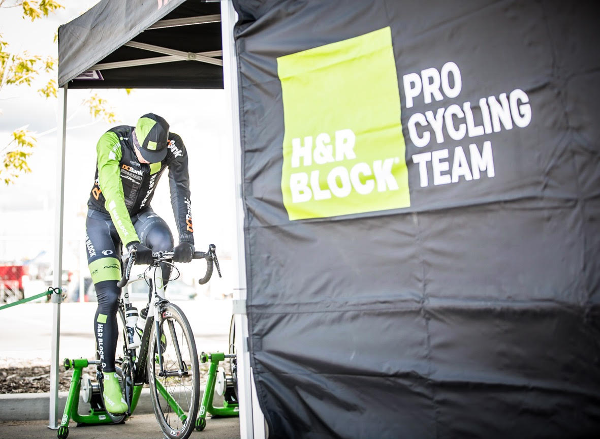 Pro rider on the H&R Block Cycling Team