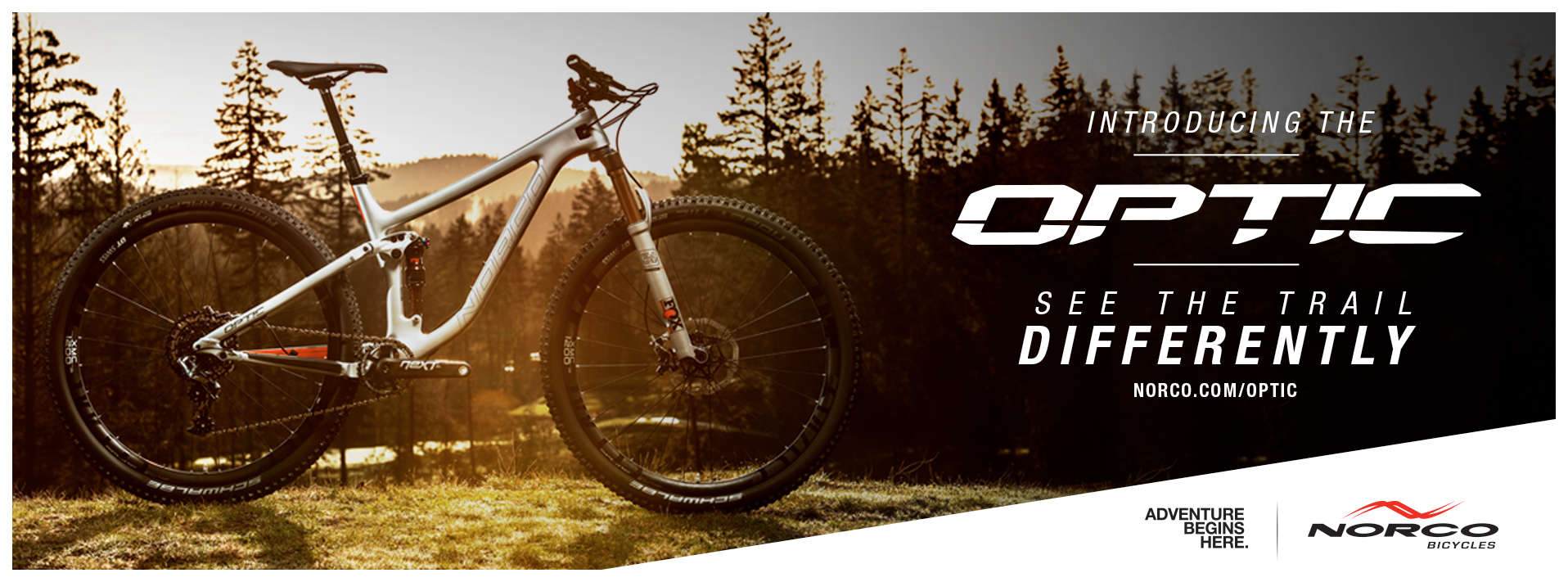 Norco Optic trail bike - see the world differently