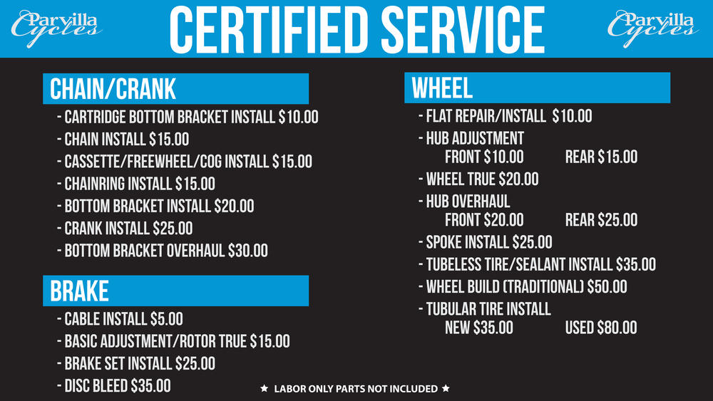 Parvilla Certified Service
