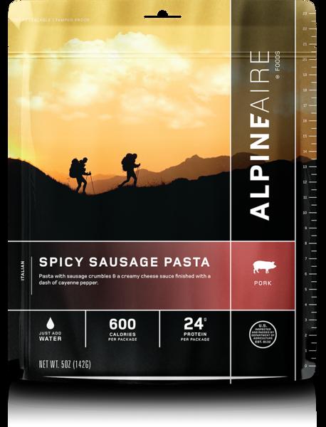 ALPINE AIRE Spicy Sausage Pasta