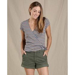 Toad & Co Daisy Rib Wrap Short Sleeve Shirt
