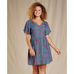 Toad & Co Hillrose Short Sleeve Button Up Dress
