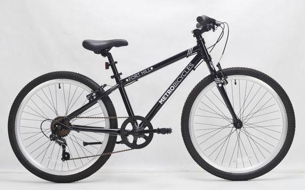 "Metro Bicycles Fort Hill 24"" Black Kid's Bike"