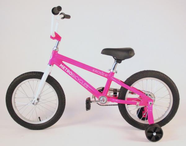 """Metro Bicycles Rosie 16"""" Pink Kid's Bike"""