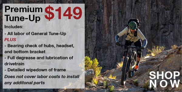 Danny's Cycles Premium Tune-up (pick-up/drop-off)
