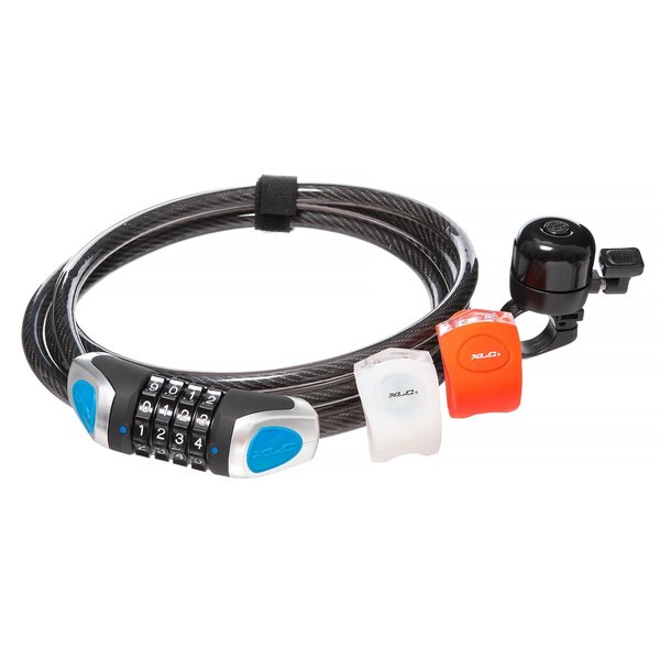 XLC Ready 2 Roll Accessory Kit (Combo lock, light set, bell)