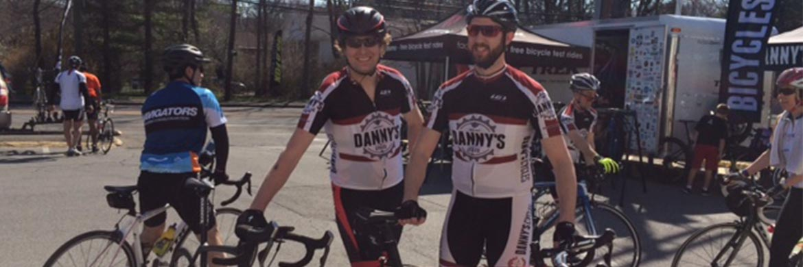 Danny's Cycles North Stamford - riders outside
