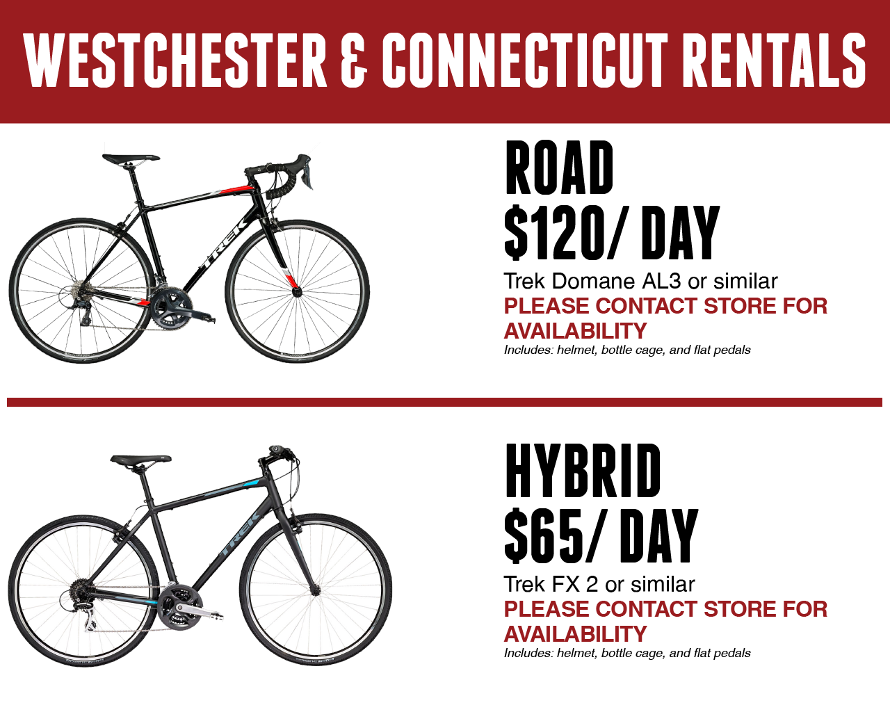 Westchester and Connecticut Rentals | Road and Hybrid