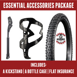 Danny's Cycles Essential Accessories Package (kickstand, bottle cage, flat insurance)