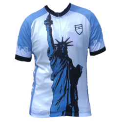 Danny's Cycles Liberty & NYC Skyline Jersey - Blue