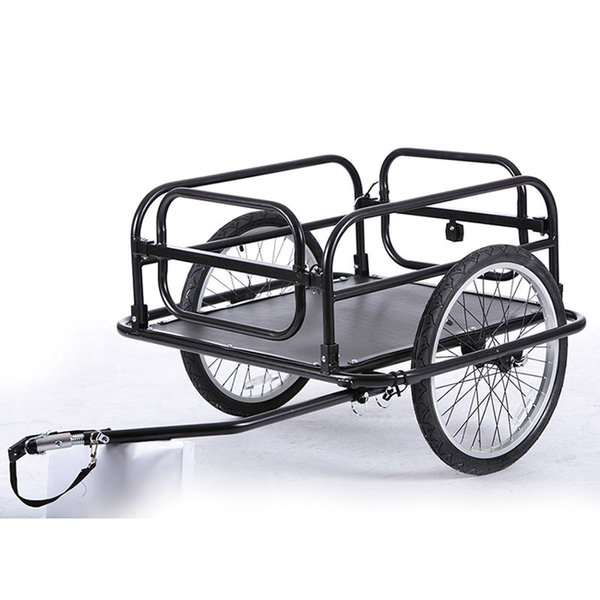 Evo E-Tec Folding Cargo 20 inch Black Steel Frame Bicycle Trailer