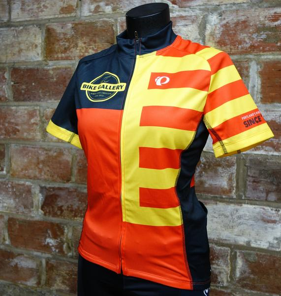 Bike Gallery Women's Visibility Red & Yellow Jersey by Pearl Izumi
