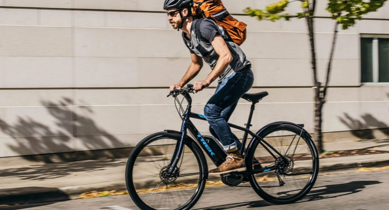 Man on an e-bike