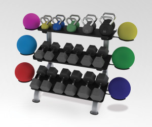 Paramount Fitness Line 3-Tier Flat Tray Dumbbell Rack