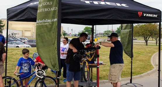 Onsite bicycle safety checks provided by Bickel's Cycling & Fitness