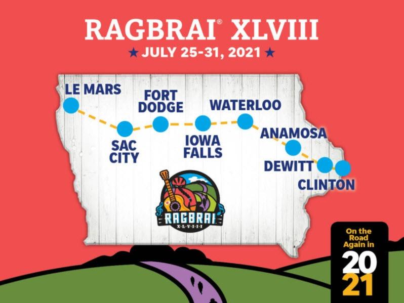 Ragbrai map