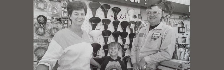 Sandie, Tyler and Leroy Bickel, Circa 1986