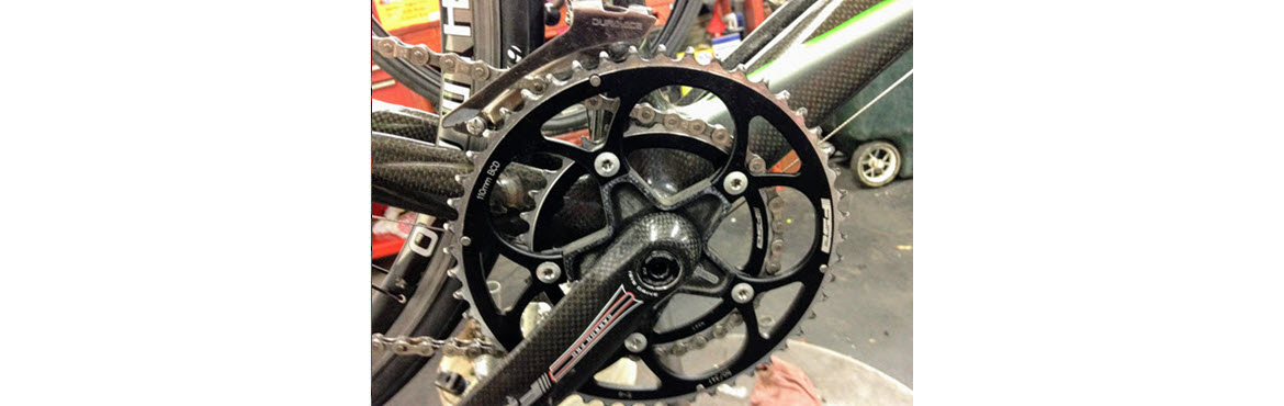 Ultrasonically cleaned bike crank