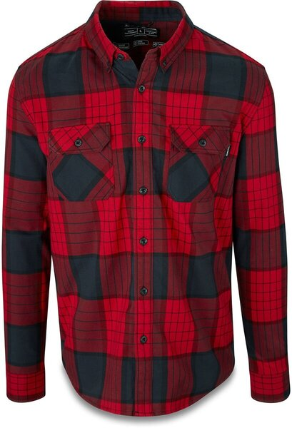Dakine Reid Tech Flannel Shirt Color: Crimson Red