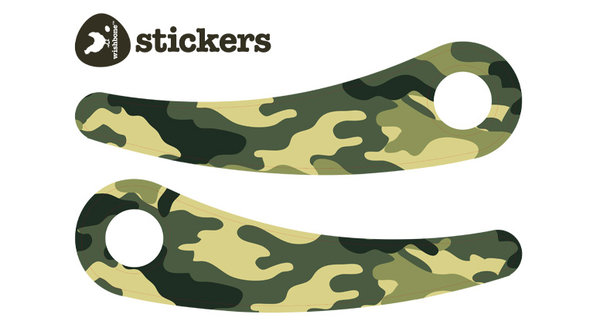 Wishbone Bike Stickers Recycled Edition Camouflage Green Print