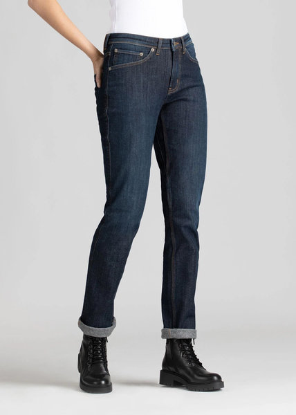 Du/er Women's Fireside Performance Denim Slim Straight - Indigo