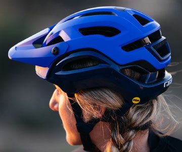mountain bike helmets are great when they have visors