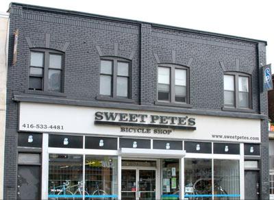 Sweet Pete's Toronto bike shop on Bloor St