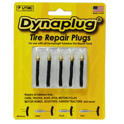 Dynaplug Tire Repair Plugs, Pointed Tip 5 Pack
