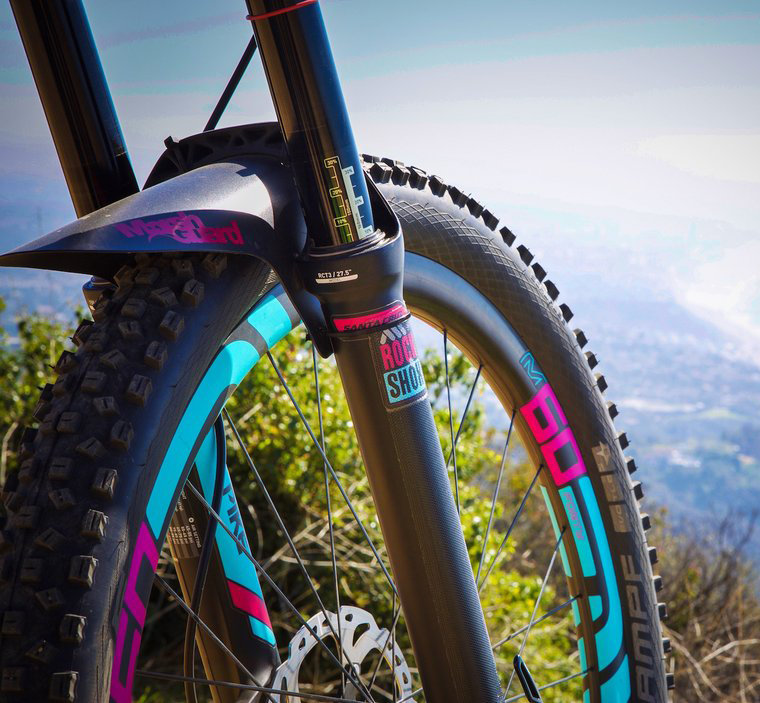 Black MTB Fork protection tape All Mountain Style AMS