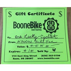 Boone Bike Gift Card