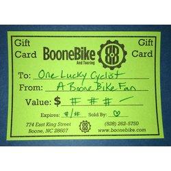 Boone Bike Gift Card