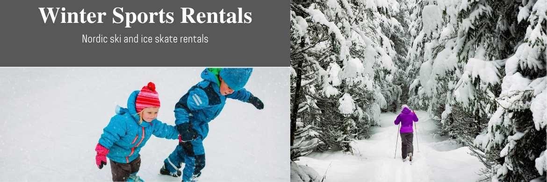 Cross Ski Rental, Nordic Ski, Ice Skate Rental