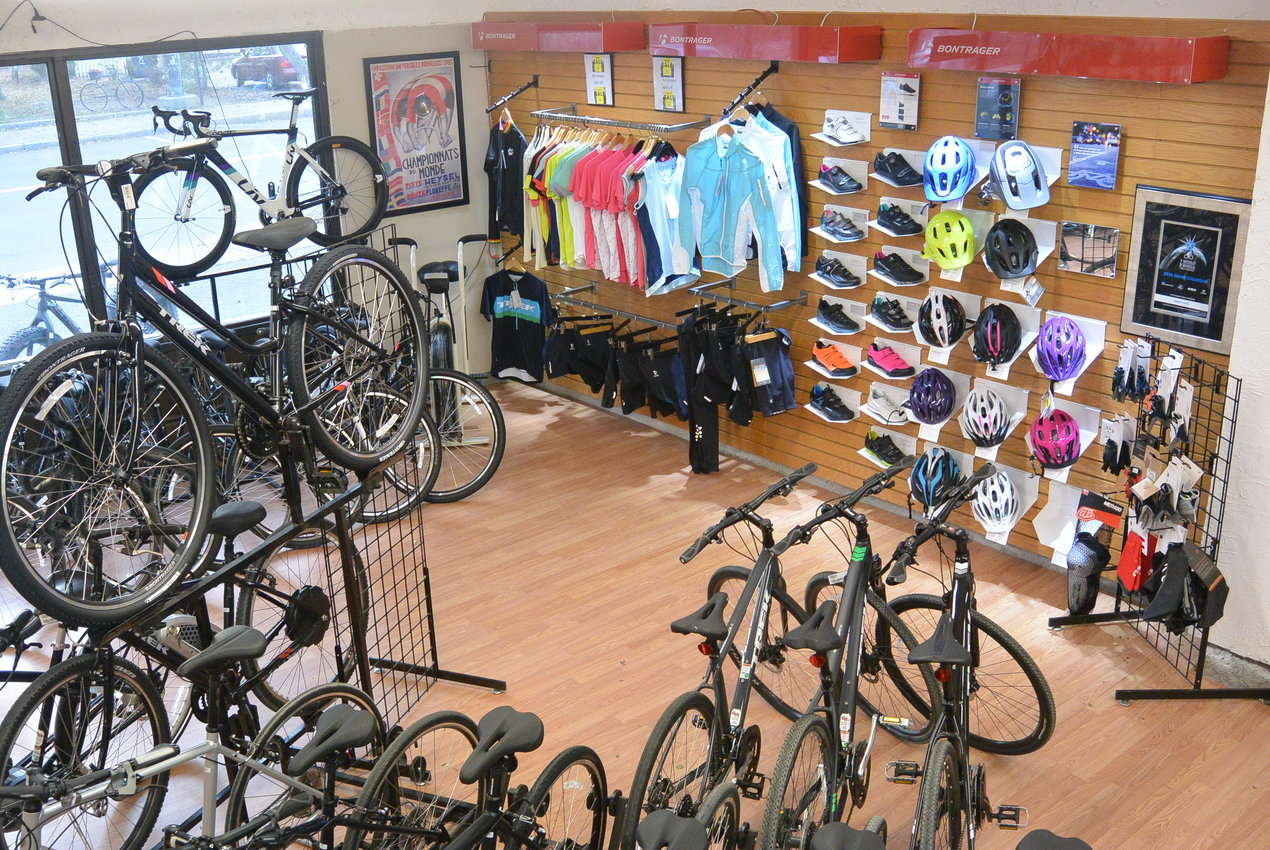 Western cycle main bicycle and accessory showroom picture
