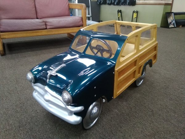 Custom Built - Woody Pedal Car