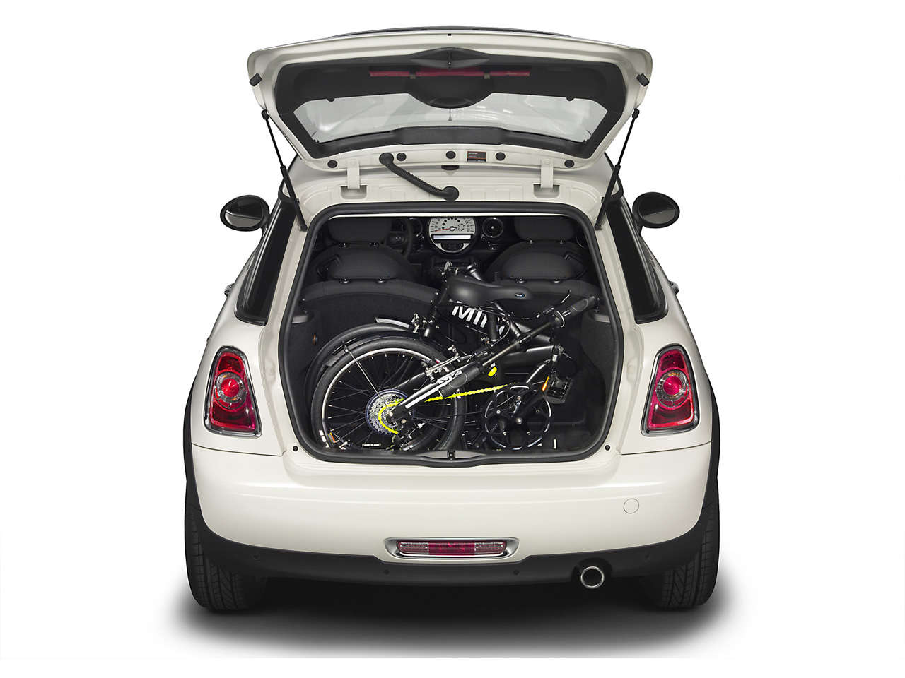 Folding bicycles can be put in the smallest of cars! Even the Origin 8 folding bicycles! Walt's Cycle, Sunnyvale, CA