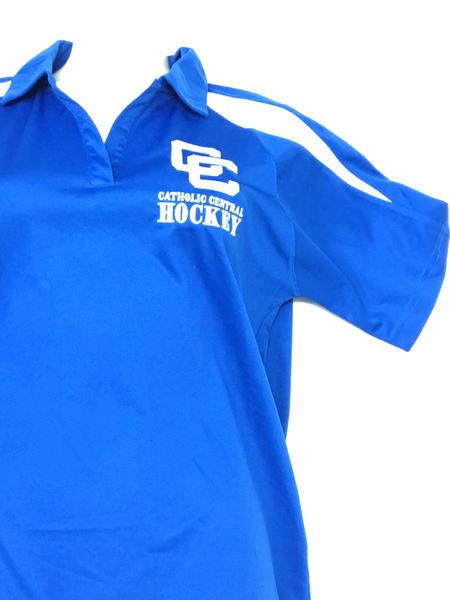Detroit Catholic Central Closeout Womens Polo Shirt - Royal