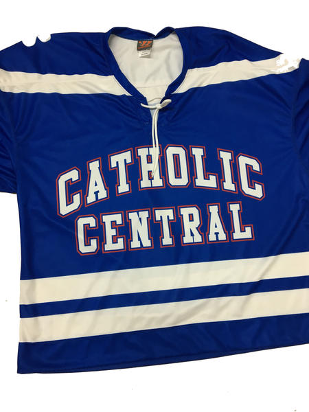 Detroit Catholic Central Closeout Team Game Jersey - Royal