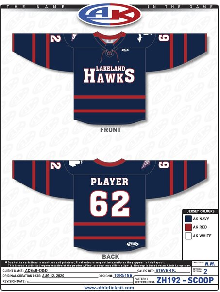 Lakeland LHA 2020-21 Jerseys and Socks
