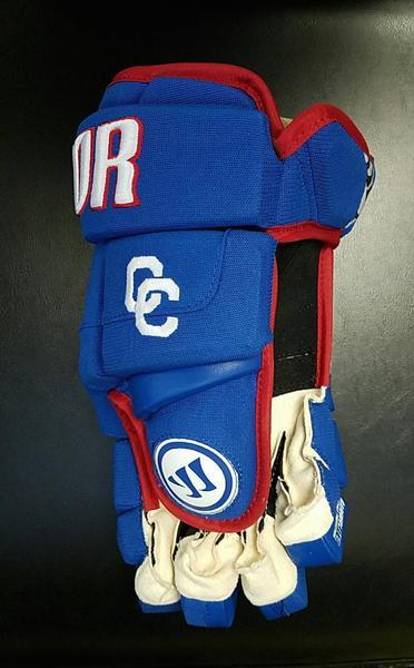Detroit Catholic Central Customized Warrior Remix Hockey Gloves