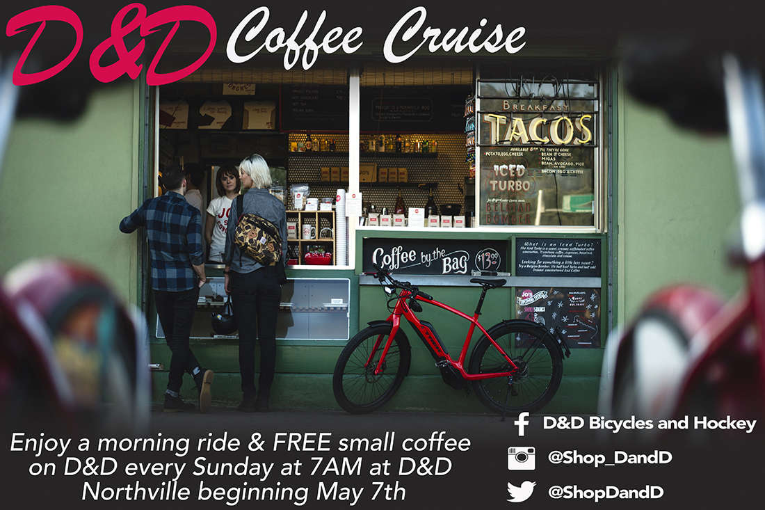 Enjoy a ride and fresh coffee on us every Sunday morning at D&D Northville.