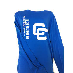 Detroit Catholic Central Closeout LS Adult Shirt - Royal