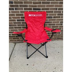 D&D MiSCA Red Folding Chair