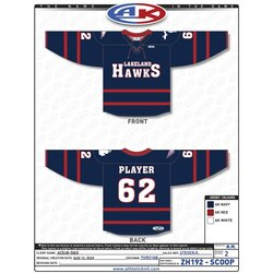 Lakeland LHA 2020-21 GOALIE Jersey Only